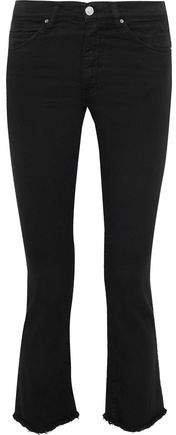 Jula Frayed Mid-rise Kick-flare Jeans
