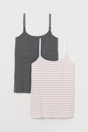 MAMA 2-pack Nursing Tank Tops - Orange