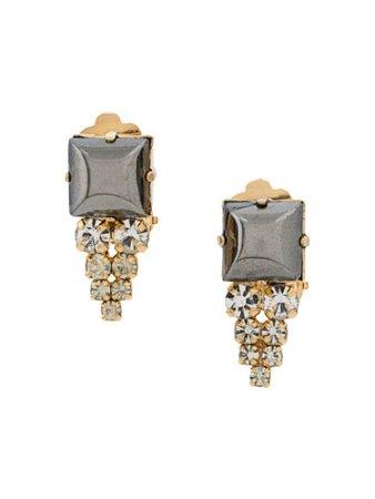 Christian Dior X Susan Caplan 1978 Archive Embellished Drop Earrings | Farfetch.com