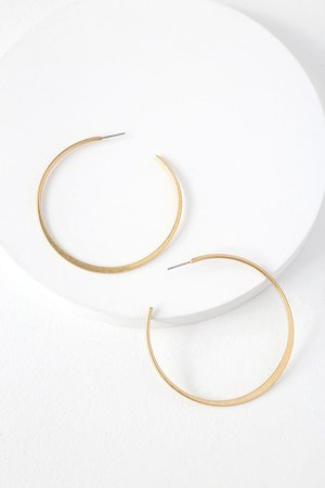 Chic Gold Earrings - Hoop Earrings - Post Back Earrings