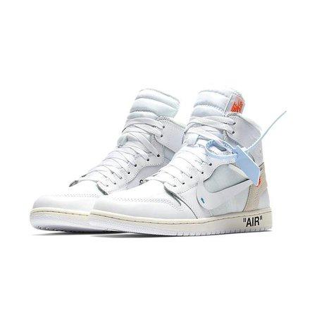 NIKE Air Jordan 1 X Off-White Men's Basketball Shoes - Teepuchup