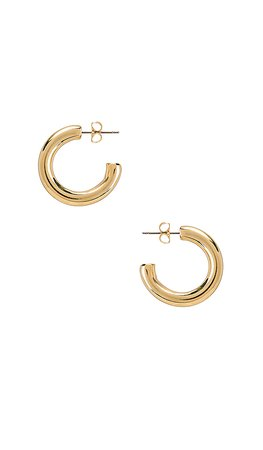 Five and Two Harper Chunky Hoop Earrings in Gold | REVOLVE
