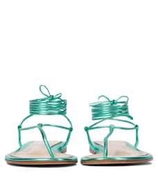 Gianvito Rossi - Gwyneth metallic leather sandals   Mytheresa