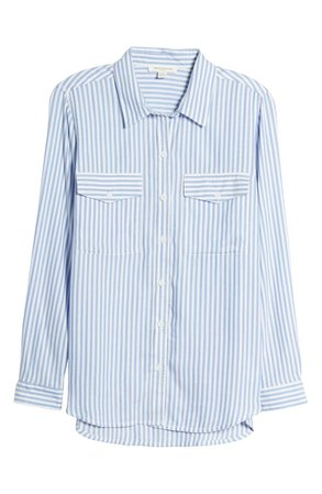 beachlunchlounge Frankie Stripe Button-Up Blouse | Nordstrom