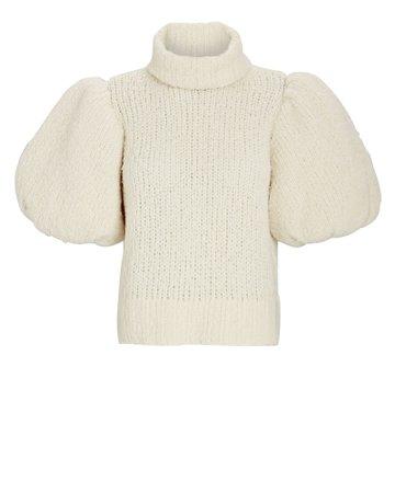 Aje Alba Puff Sleeve Turtleneck Sweater   INTERMIX®