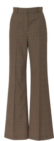 Joseph Tambi Glen Plaid Flared Pants