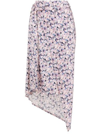 Shop Paco Rabanne floral-print wrap skirt with Express Delivery - FARFETCH