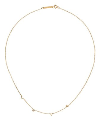 Zoë Chicco 14kt Yellow Gold Love Necklace - Farfetch