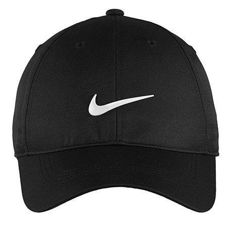 Amazon.com: Nike Authentic Dri-FIT Low Profile Swoosh Front Adjustable Cap - Black: Gateway