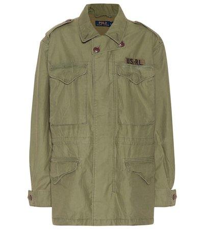 Cotton twill military jacket