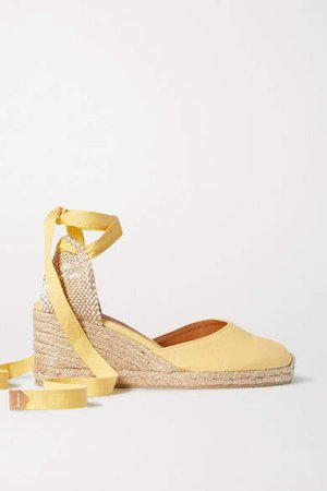 Carina 60 Canvas Wedge Espadrilles - Yellow