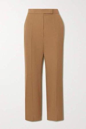 Wool Straight-leg Pants - Sand