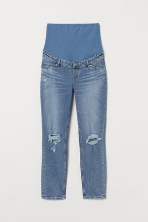 MAMA Mom Ankle Jeans - Blue