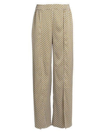 Chain Print Split Trousers
