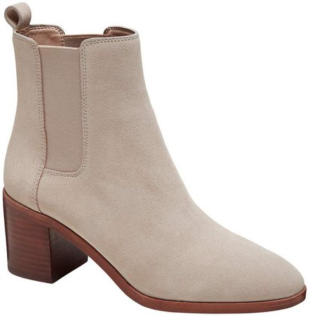 Block Heel Chelsea Boot
