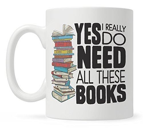 Amazon.com: Book Lover Mug Gift, Bookish Gifts, Librarian Mug, Bookworm Mug, Yes I Really Do Need All These Books: Handmade