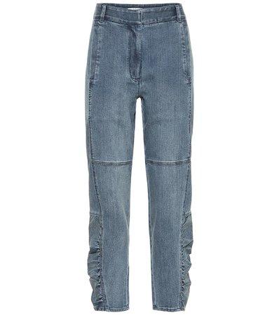Jeans Ajustados De Tiro Alto - Tibi | Mytheresa