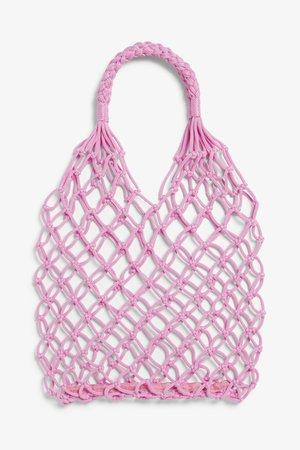 String bag - Bright pink - Bags, wallets & belts - Monki WW