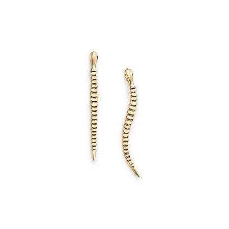 Elsa Peretti™ Snake earrings in 18k gold. | Tiffany & Co.