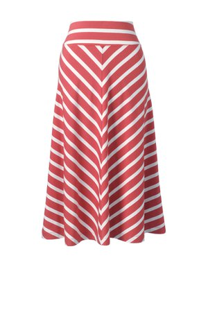 Women's Stripe Knit Midi Skirt from Lands' End