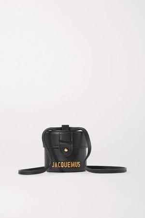 Le Vanity Mini Leather Shoulder Bag - Black