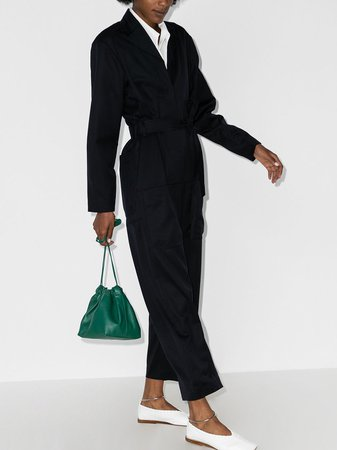 Low Classic Belted Wool Jumpsuit - Farfetch