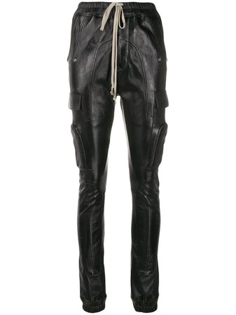 Rick Owens Stitched Panel Tapered Trousers - Farfetch
