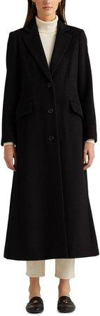 Wool Blend Longline Coat