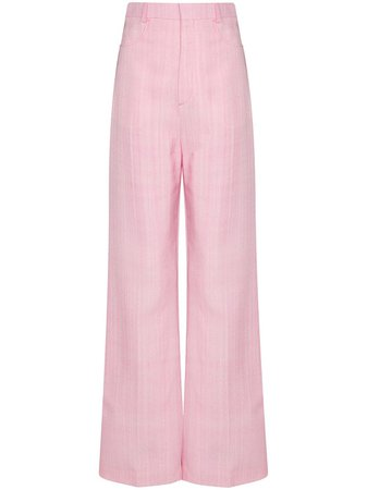 Shop pink Jacquemus wide-leg tailored trousers with Express Delivery - Farfetch