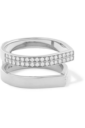 Repossi | Antifer 18-karat white gold diamond ring | NET-A-PORTER.COM