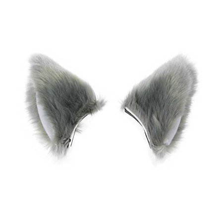Amazon.com: BAOBAO Cat Fox Long Fur Ears Hair Clip Anime Neko Cosplay Halloween Costume(Gray&Pink): Clothing