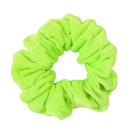 neon green scrunchie