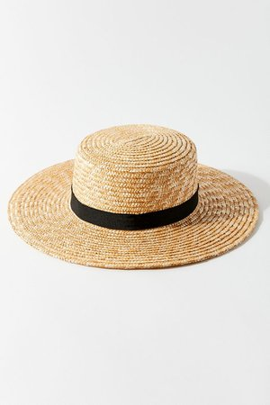 UO Straw Boater Hat | Urban Outfitters