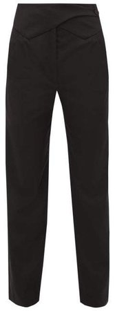 Davos Waist Panel Wool Twill Trousers - Womens - Black