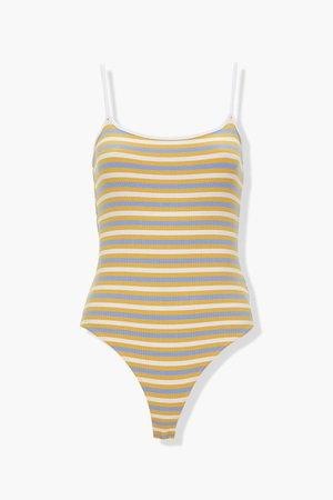 Striped Cami Bodysuit | Forever 21