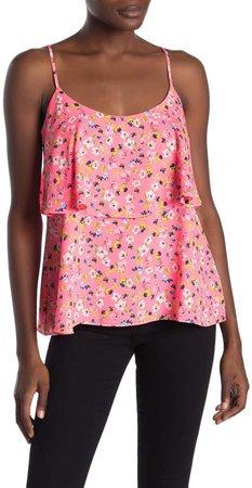 Austen Neon Floral Tiered Camisole