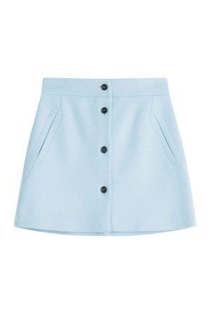 Wool Mini Skirt Gr. FR 36