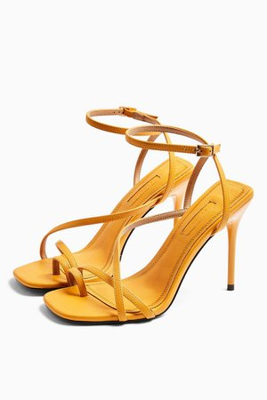 RISE Orange Strappy Heels | Topshop