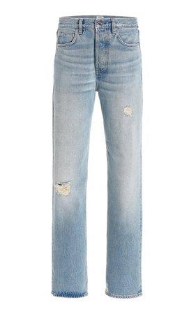 Distressed Rigid High-Rise Loose-Fit Jeans By Toteme   Moda Operandi