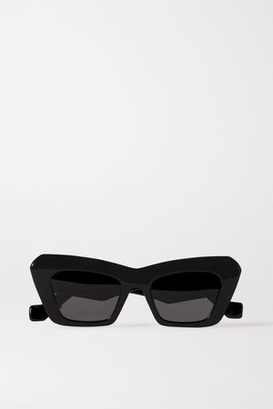 Black Oversized cat-eye acetate sunglasses | Loewe | NET-A-PORTER