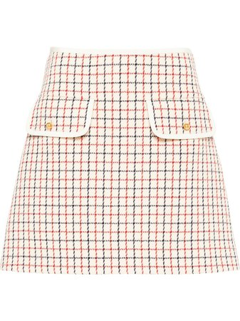 Miu Miu Checked mini skirt
