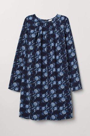 Long-sleeved Dress - Blue