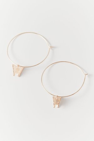 Delicate Icon Charm Hoop Earring | Urban Outfitters