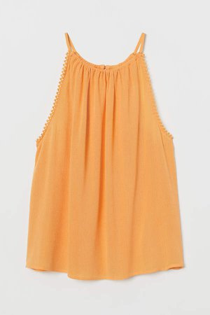 Crinkled Camisole Top - Yellow