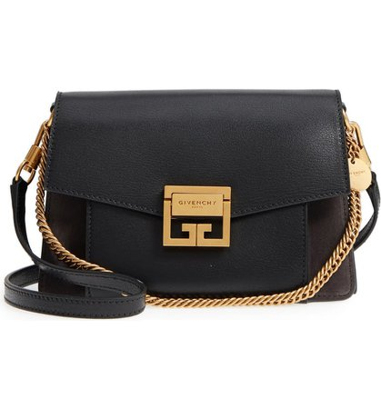 Givenchy Small GV3 Leather & Suede Crossbody Bag   Nordstrom