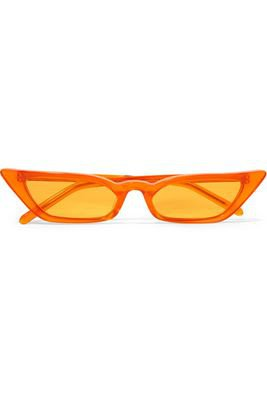 Orange cateye glasses