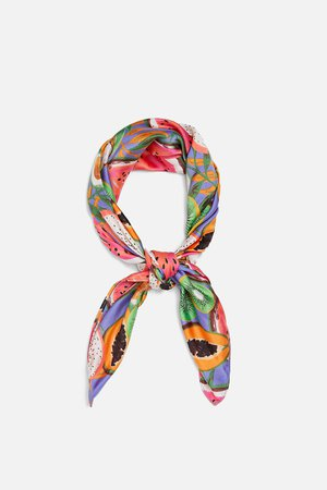PRINTED SCARF - NEW IN-WOMAN | ZARA United States