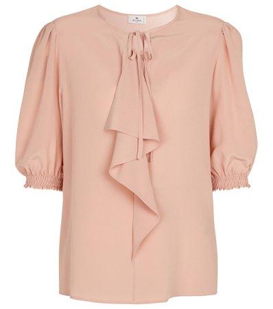 ETRO - Silk crêpe blouse | Mytheresa