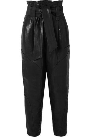 IRO | Bahio belted leather tapered pants | NET-A-PORTER.COM