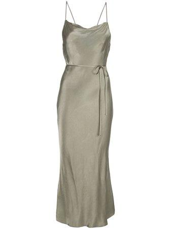 Shona Joy La Lune Cowl Midi Dress Ss20   Farfetch.com